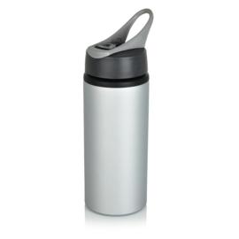Aluminium sportfles, grijs