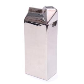 Melkpak vaas, zilver