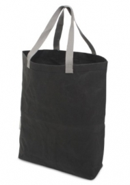 Washed Kraft Paperbag 100% Recycled, Zwart