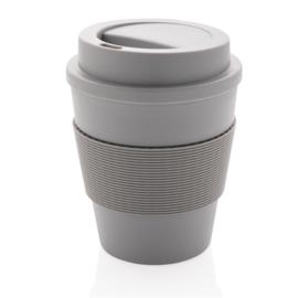 Herbruikbare Koffiebeker met Schroefdop, Grijs