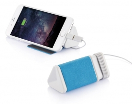 MFi Dobble kabel & 3.000mAh powerbank, blauw
