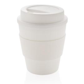 Herbruikbare Koffiebeker met Schroefdop, Wit