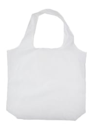 gerecyclede PET opvouwbaar shopper, wit