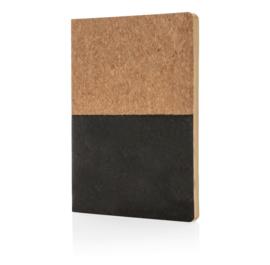 Eco kurk notitieboek, zwart