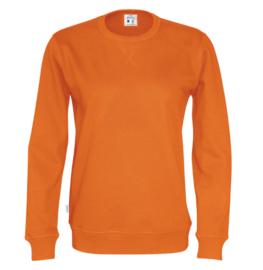 Organic Katoen Crew neck sweater Cottover unisex kleur oranje
