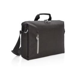 "15.6"" RFID Laptoptas PVC-vrij, Zwart/Grijs"