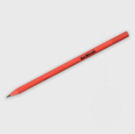 gerecycled potlood gemaakt van een CD box, rood