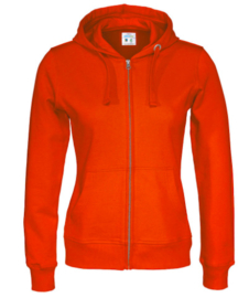 Cottover full zip hoody, oranje