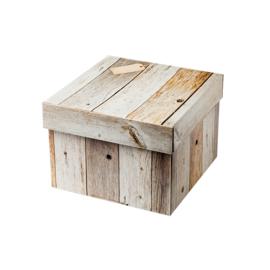 Geschenkdoos vierkant sloophout