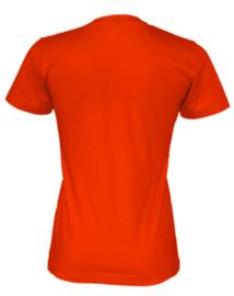 T-shirt Gemaakt Van Organische Katoen, Oranje