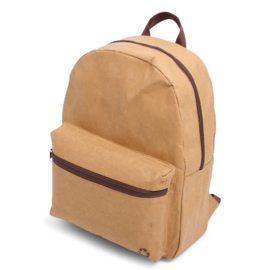Washed Kraft Backpack 100% recycled, bruin
