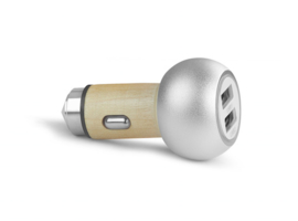 Car charger van hout