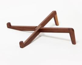 houten laptop standaard