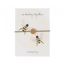 Ansichtkaart Met Sieraad, Bijen
