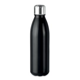 Drinkfles met RVS Dop, Zwart
