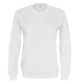 Organic Katoen Crew neck sweater Cottover unisex kleur wit