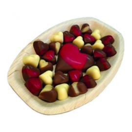 Valentijn Chocolade op Bamboe Blad