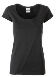 James & Nicholson damesshirt, zwart