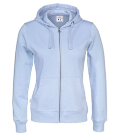 Cottover full zip hoody, ice blue