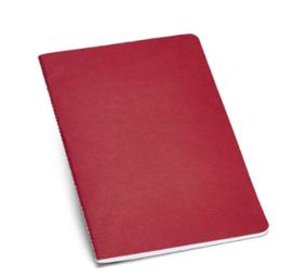 Notitieboekje van gerecycleerd karton gelinieerd rood A5