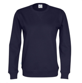 Organic Katoen Crew neck sweater Cottover unisex kleur navy