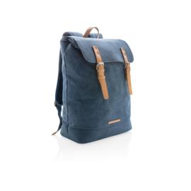 Canvas laptop rugzak PVC vrij, blauw