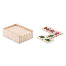 Domino in houten doos