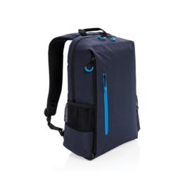 "Lima 15"" laptop rugzak met RFID & USB, donkerblauw"