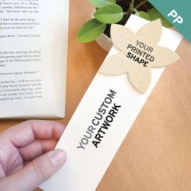 Large Eco Bookmark, met een geprint vormpje