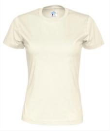 T-shirt Gemaakt Van Organische Katoen, Ecru
