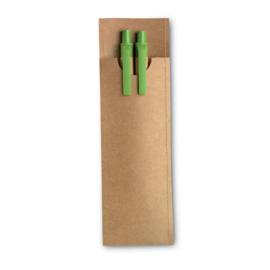 Set van potlood en balpen