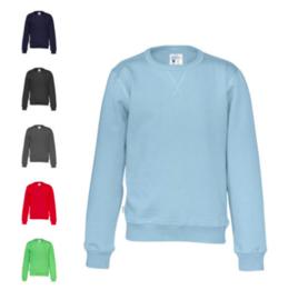 Organic Katoen Crew neck sweater Cottover kid kleur blauw