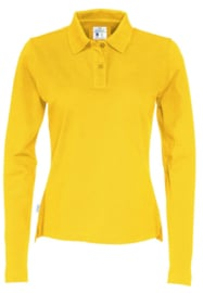 COTTOVER polo pique long sleeve lady kleur geel