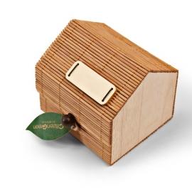 Memohouder van hout