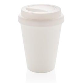 Herbruikbare Dubbelwandige Koffiebeker, Wit