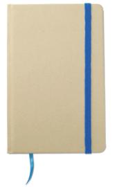 A6 Gerecycled memoblokje, blauw