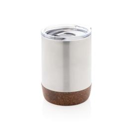Koffiebeker Met Kurk, Zilver