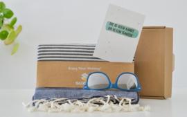 Zonnebril + hamamdoek = zomer op de mat
