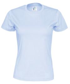 Cottover T-shirt, lichtblauw