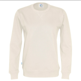 Organic Katoen Crew neck sweater Cottover unisex kleur Off-White