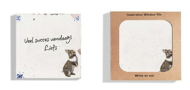 Dutch Design Tegeltjes wijsheid Rabbit whiteboard