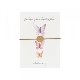 Ansichtkaart Met Sieraad, Vlinders