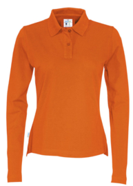 COTTOVER polo pique long sleeve lady kleur oranje