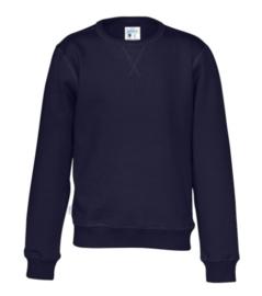 Organic Katoen Crew neck sweater Cottover kid kleur navy
