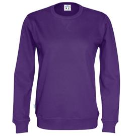 Organic Katoen Crew neck sweater Cottover unisex kleur paars