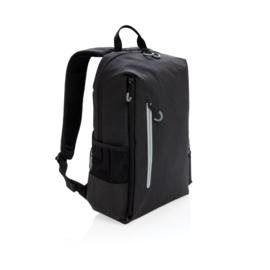 """Lima 15"""" laptop rugzak met RFID & USB, zwart"""
