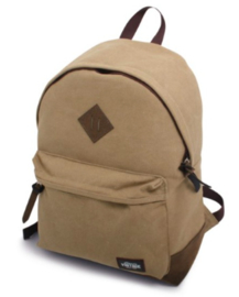 Canvas backpack, kaki