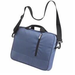 RPET laptop schoudertas, blauw