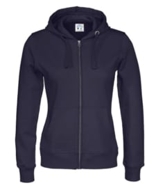 Cottover full zip hoody, navy