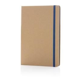 Eco-vriendelijk A5 kraft notitieboek, blauw